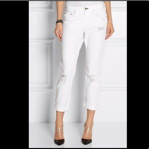 🍂 Rag and Bone white boyfriend jeans